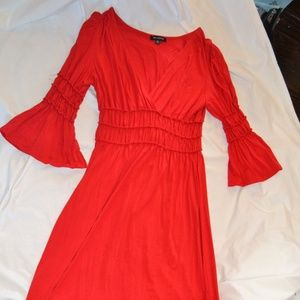 Max Edition Red Dress with Bell Sleeves Size M